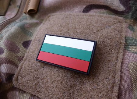 Velcro patch - Bulgarian flag - PVC