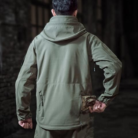 Geaca  Hooded Softshell - Verde Oliv