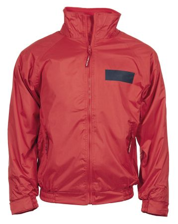 Military jacket raincoat with lining - bomber type - Red