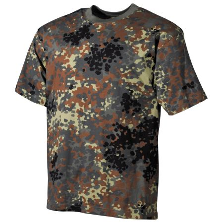 US T-Shirt, short-sleeved, BW camo