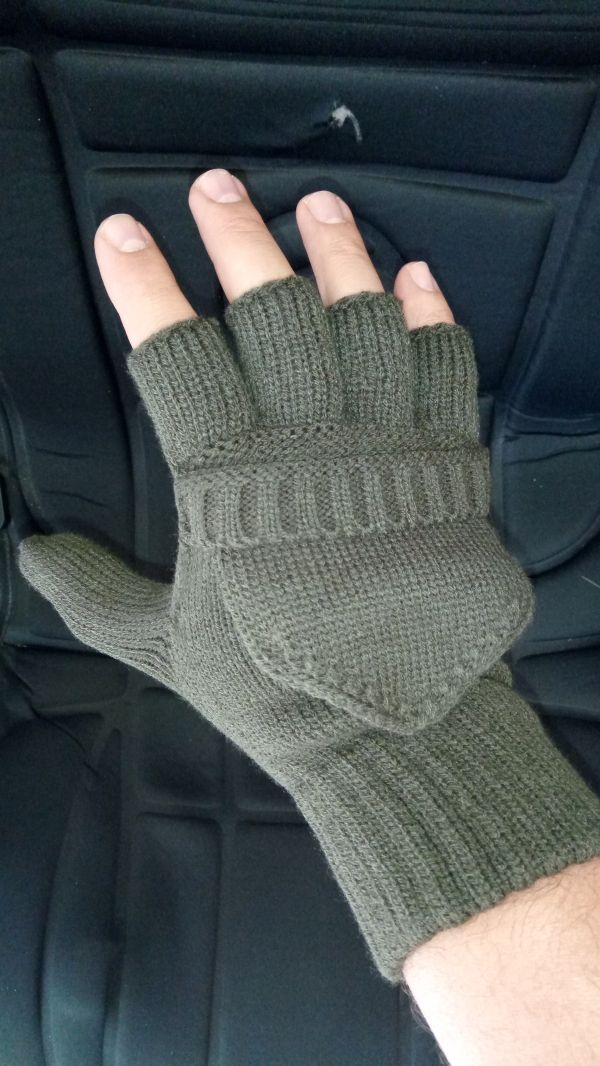 Shooters Mitts - Olive Green