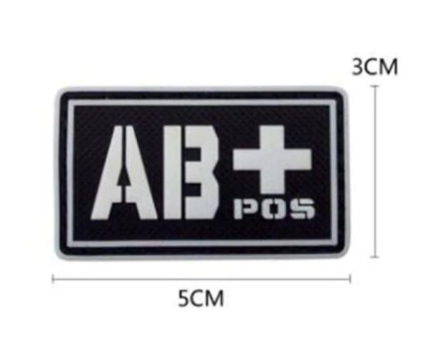 Blood group patch - AB+