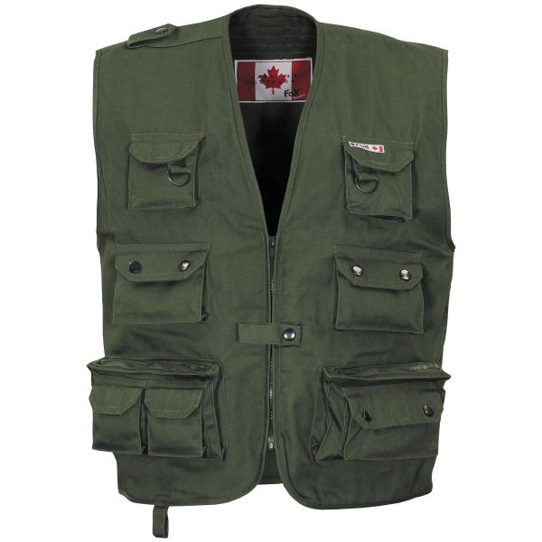 Outdoor Vest, OD green, heavy version