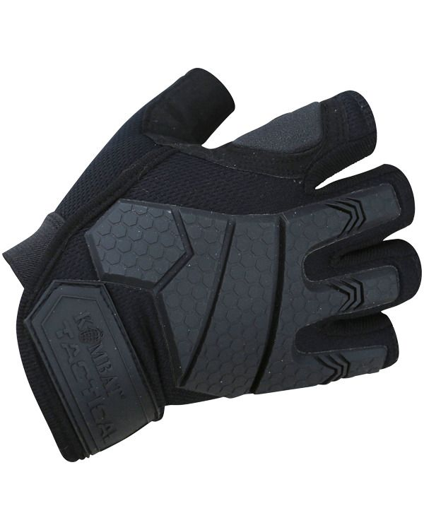 Alpha Fingerless Tactical Gloves - Black