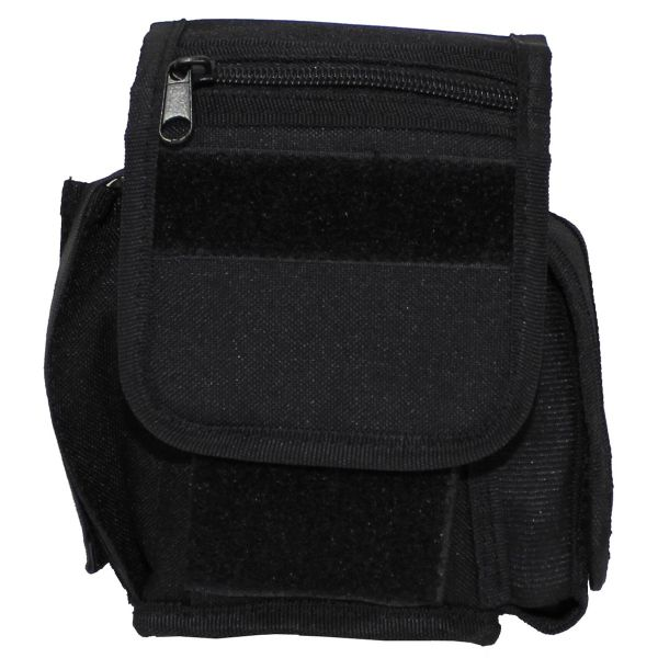 Belt Pouch with 3 compartments, Black