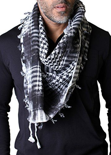 Scarf - Shami - Black and white