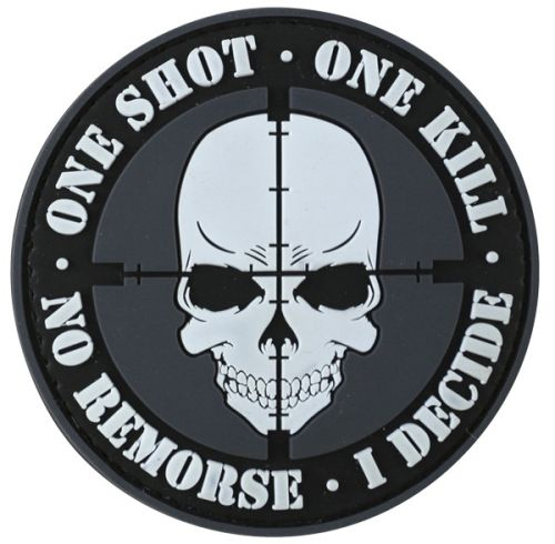 "Petic / Emblema Velcro  - ""One Shot, One Kill"""