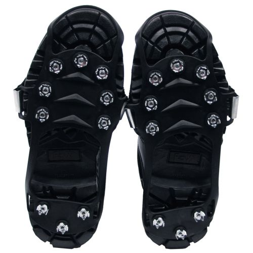 Ice Spikes for Shoes, black, with 10 knobs